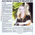 Amy's Borneo campaign to help great apes