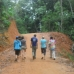 Walking back to the village after a long morning of sorting seedling bags at the nursury.