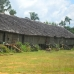 Long house, a traditional Dayak dwelling, in the comminuty of Ensaid Panjang.