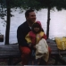 My father and I at our cottage